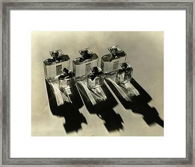 Bottles Of Lucretia Allen Perfume Framed Print by Lusha Nelson