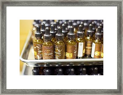 Bottles Of Marijuana Extract Framed Print by Jim West