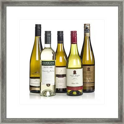 Bottles Of New Zealand Wine Framed Print