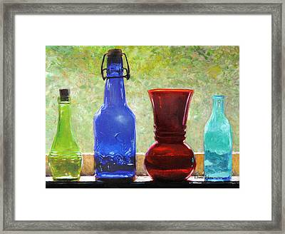 Da142 Bottles Of Time Daniel Adams Framed Print