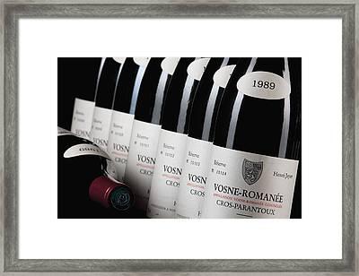 Bottles Of Vosne-romanee Premier Cru Cros Parantoux Framed Print
