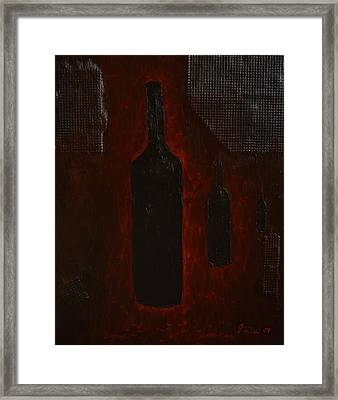 Bottles Framed Print by Shawn Marlow
