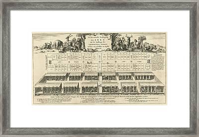 Bottom Floor Of Noahs Ark, Jan Luyken, Wilhelmus Goeree Framed Print by Jan Luyken And Wilhelmus Goeree (i)