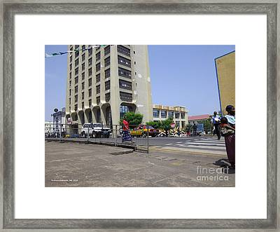 Bottom Up Sierra Leone Commercial Bank Framed Print by Mudiama Kammoh