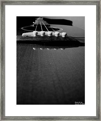 Bottoms Up Blues Framed Print