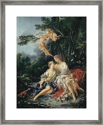 Boucher, Fran�ois 1703-1770. Jupiter Framed Print by Everett