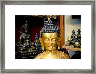 Boudha Kathamndu Near Stupa Boudnath Framed Print by Raimond Klavins