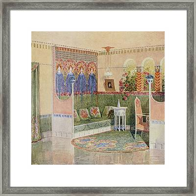 Boudoir, From A Villa In Helsinki Framed Print