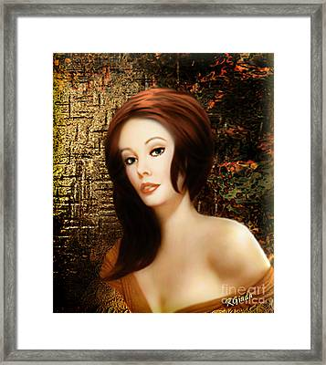 Framed Print featuring the digital art Boudoir Moment - Digital Painting By Giada Rossi by Giada Rossi