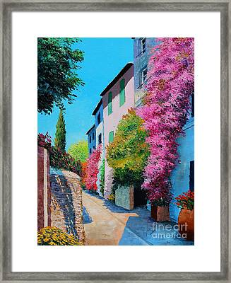 Bougainvillea In Grimaud Framed Print