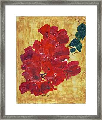 Framed Print featuring the painting Bougainvillea by Linda Feinberg