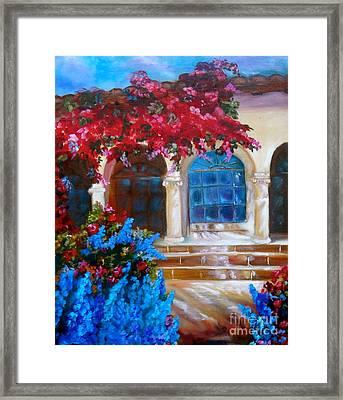 Bouganvellea Hacienda Framed Print