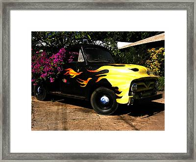 Framed Print featuring the photograph Bouganvilla Bed by Robert Lozen