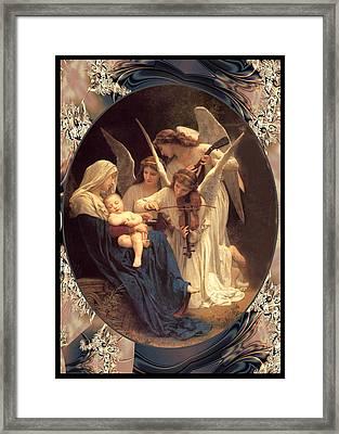 Bouguereau Vintage Angels 2 Framed Print by Robert Kernodle