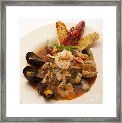 Bouillabaise Framed Print by New  Orleans Food