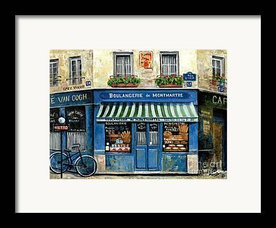 Street Scene France Framed Prints