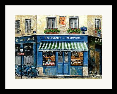 European Street Scene Paintings Framed Prints