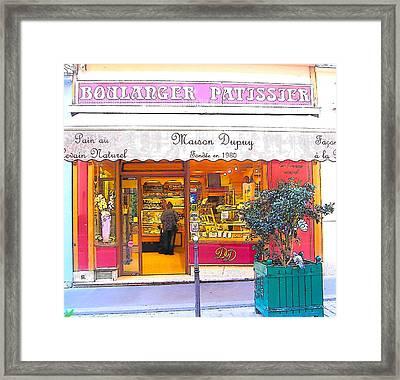Boulangerie Patisserie In Paris Framed Print