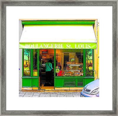 Boulangerie St Louis Framed Print