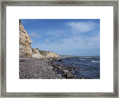 Framed Print featuring the photograph Boulder Beach by Christine Drake