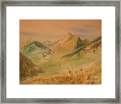 Boulder Colorado Painting Framed Print