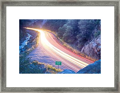 Boulder County Colorado Blazing Canyon View Framed Print by James BO  Insogna
