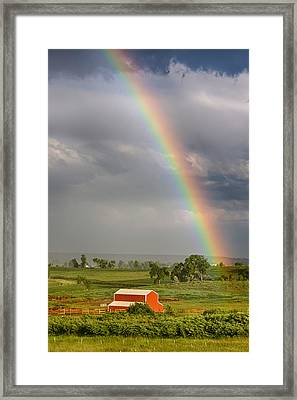 Boulder County Country Rainbow Framed Print by James BO  Insogna