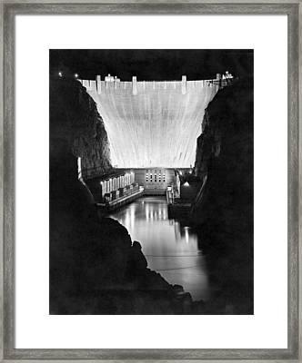 Boulder Dam Framed Print by Underwood Archives