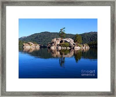 Boulder Island - Big Bear Lake Framed Print by Karey and David Photography