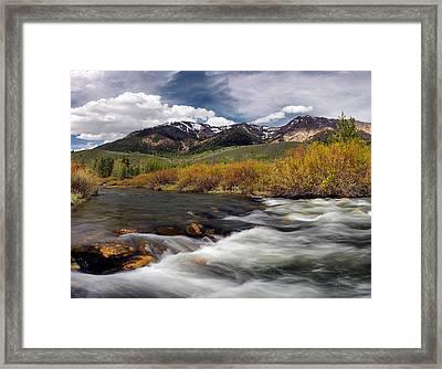 Boulder Mountains Framed Print by Leland D Howard