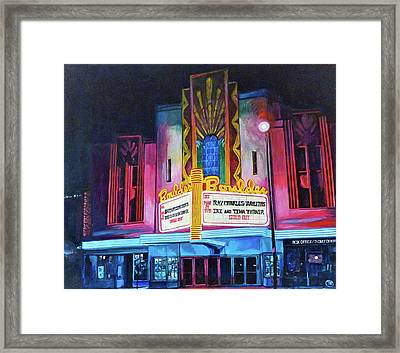 Boulder Theater Framed Print by Tom Roderick