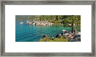 Boulders At Sand Harbor, Lake Tahoe Framed Print by Panoramic Images