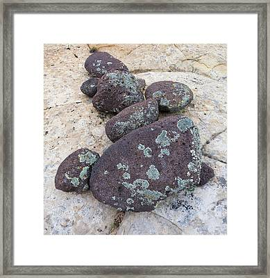 Boulders Covered With Lichen, Grand Framed Print by Panoramic Images