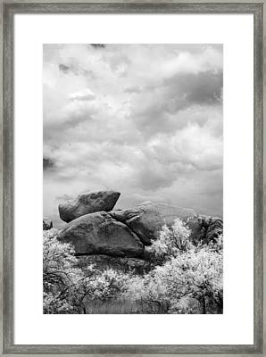 Boulders In Another Light Framed Print