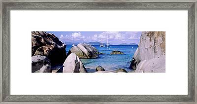 Boulders On A Coast, The Baths, Virgin Framed Print
