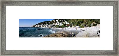 Boulders On The Beach, Clifton Beach Framed Print by Panoramic Images