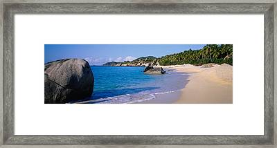 Boulders On The Beach, The Baths Framed Print by Panoramic Images