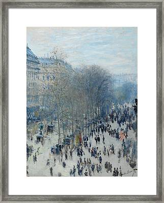 Boulevard Des Capucines Framed Print by Claude Monet