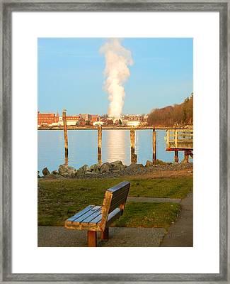 Boulevard's Golden Pillar Framed Print
