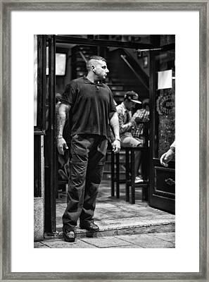 Bouncer Framed Print
