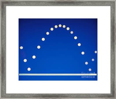 Bouncing Ball Framed Print
