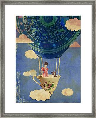 Bouncing Off Clouds Framed Print by Jeff Clark