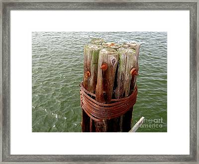 Bound And Bolted Framed Print by Ed Weidman
