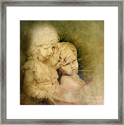 Michael And His Sister Framed Print by MaryJane Armstrong