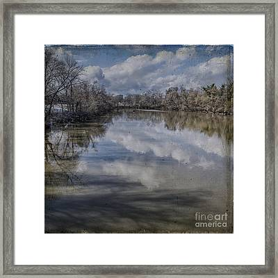 Boundary Channel Reflections Framed Print by Terry Rowe
