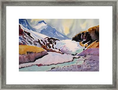 Boundary Glacier Banff And Jasper National Park Framed Print by Mohamed Hirji