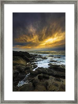 Boundary Of The Sea Framed Print by Robert Bynum