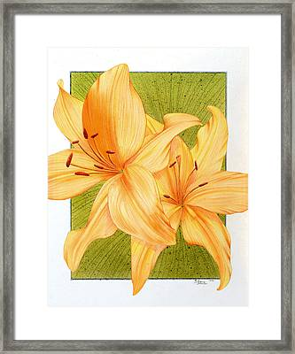 Bounding Bloom Framed Print