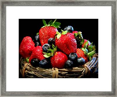 Bountiful Basket Framed Print by Karen Wiles