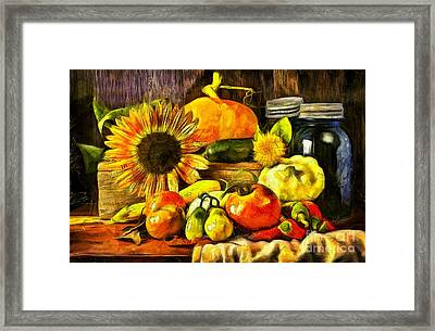 Bountiful Harvest Van Gogh Style Framed Print by Edward Fielding